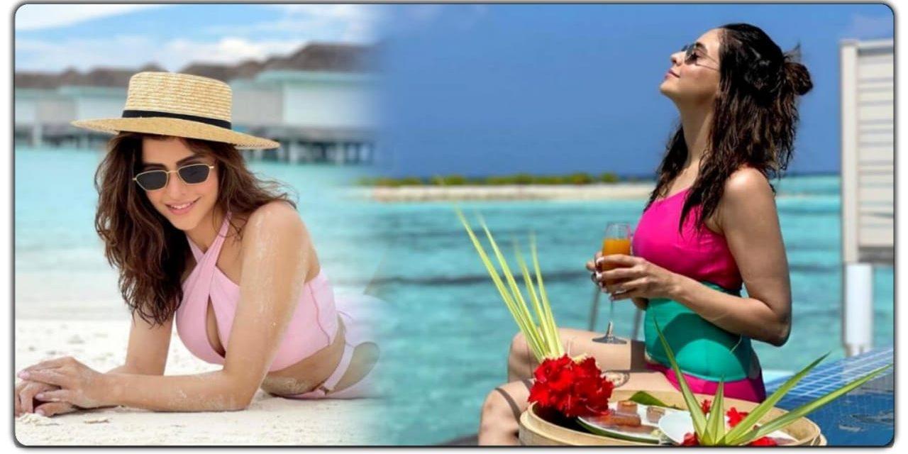 टीवी अभिनेत्री आमना शरीफ मालदीव में मना रही है वेकेशन, देखिए उनकी हॉट तस्वीरें