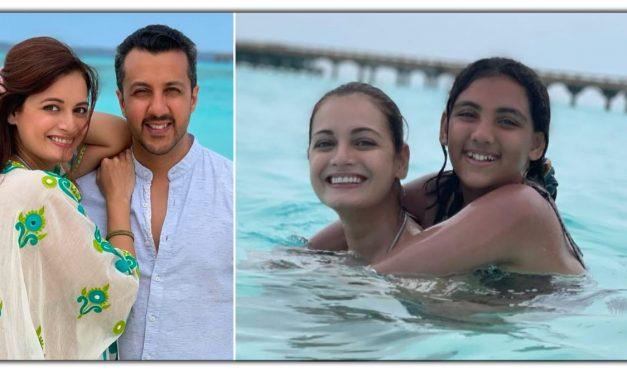 दिया मिर्जा ने मालदीव से शेर की सौतेली बेटी के साथ तस्वीर, समुद्र में मस्ती करती दिखी अभिनेत्री