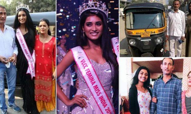 मिस इंडिया रनर-अप का ताज पहनकर पिता की रिक्शा में मान्या सिंह ने की सवारी, रिक्शा में बैठकर पहुंची इवेंट में…