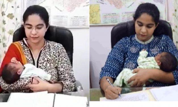 गजब: यह महिला अपने नवजात बच्चे को साथ लेकर कार्यालय में करती है काम, आज सोशल मीडिया पर लोग कर रहे है तारीफ, जानिए उनके बारे मे..
